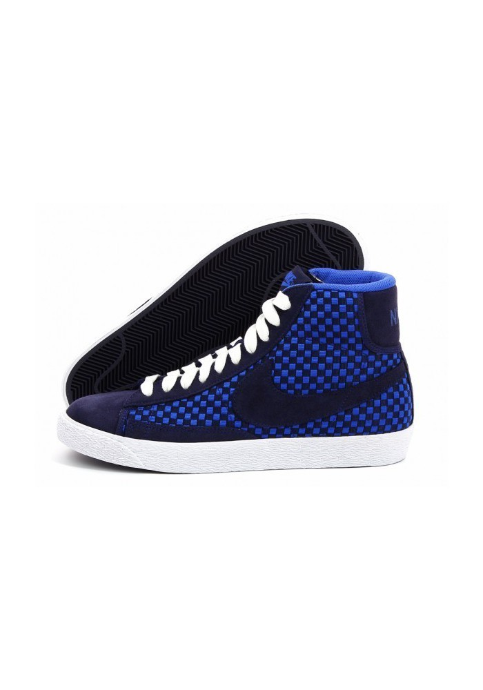 Chaussures Nike Blazer Mid Woven (Ref: 555093-400) Basket Homme