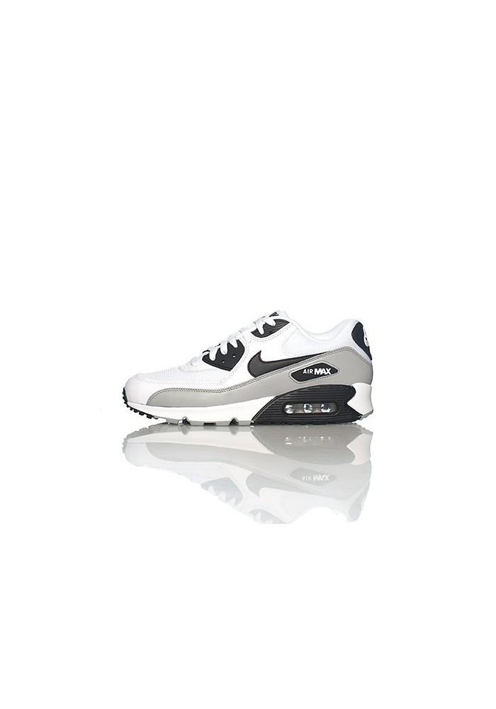 chaussures de séparation 13dca c14e1 Nike Air Max 90 537384-110 Cuir Blanc Chaussure Running Hommes