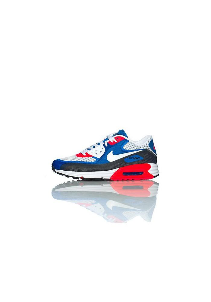 Nike Air Max 90 Lunar C 3.0 631744 004 Bleu Rouge Chaussure Running Hommes
