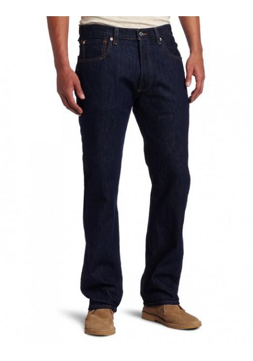Levi's 501 Original Button Fly Rinsed Indigo Bleu Foncé Jeans  501-0115 Hommes