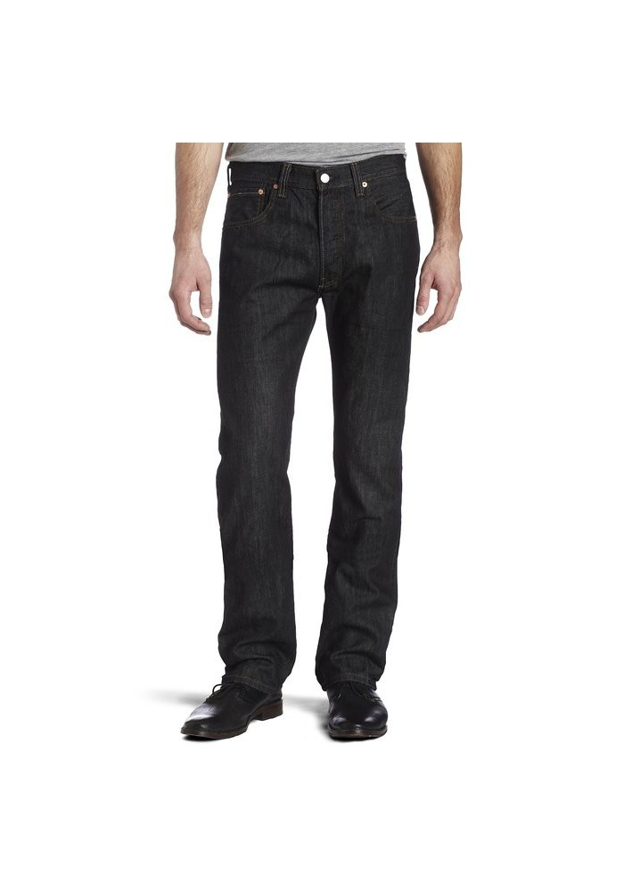 Levi's 501 Original Button Fly Iconic Black Noir Jeans 501-5808 Hommes