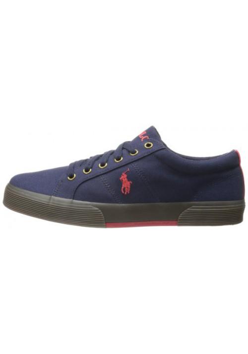 Chaussure Ralph Lauren - Felixstow Newport Navy/Red Toile- Homme