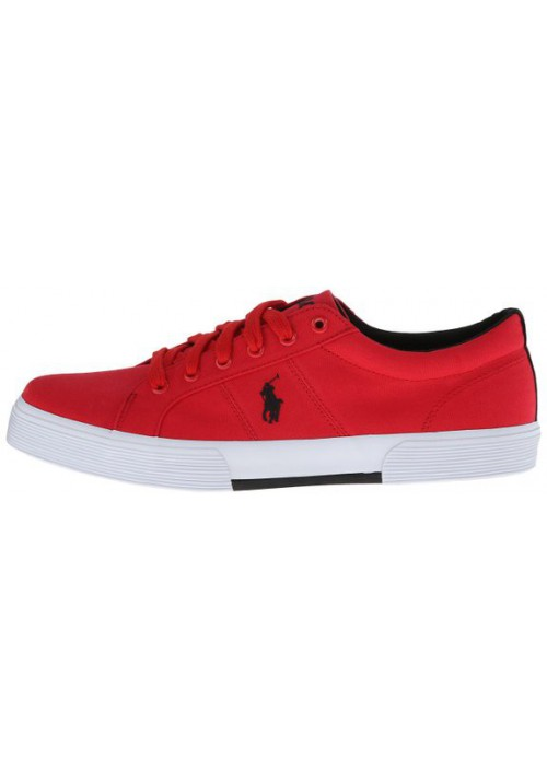 Chaussure Ralph Lauren - Felixstow Rouge Toile - Homme