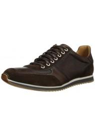 Basket Mode Magnanni en Cuir Serrano Cacao Sneakers Homme
