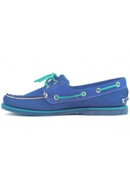 Chaussure Timberland Classic 2-Eye Bateau Cuir (Couleur : Olympian Blue/Blue) Homme