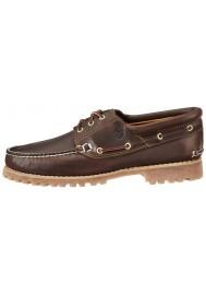Chaussure Timberland Hommes 3-Eye Classic Lug Chukka (Couleur : Brown) Bateau en Cuir Marron