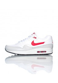 Nike Air Max 1 Cuir Blanc (Ref : 654466-102) Basket Hommes Running