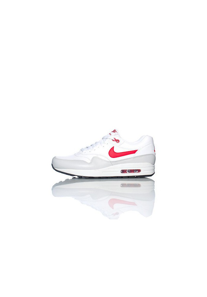 chaussures de sport 6cab3 9875c Nike Air Max 1 Cuir Blanc (Ref : 654466-102) Basket Hommes Running