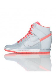 Baskets Haute Nike DUNK SKY HI Grise (Ref : 528899-006) Femmes