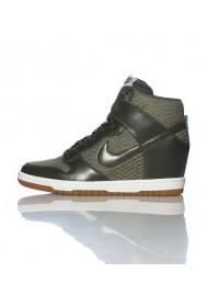 Baskets Haute Nike DUNK SKY HI ESSENTIAL WEDGE Verte (Ref : 644877-301) Femmes