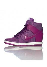 Baskets Haute Nike DUNK SKY HI TXT WEDGE Violet (Ref : 644410-400) Femmes